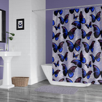 Purple and Blue Morpho Butterfly Shower Curtain