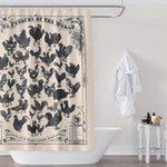 Farmhouse Bathroom Chicken Shower Curtain