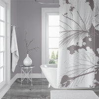 Modern gray and white bathroom design