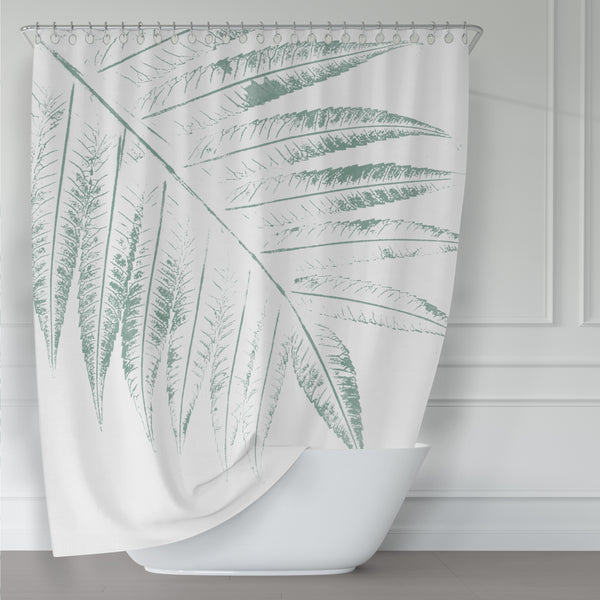 Giant Green Overhead Leaves - Botanical Spa Shower Curtain