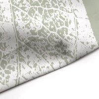 Sage Green Leaves Monchromatic Print Shower Curtain