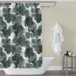 Beer Hops Leaf Print Bathroom Shower Curtain