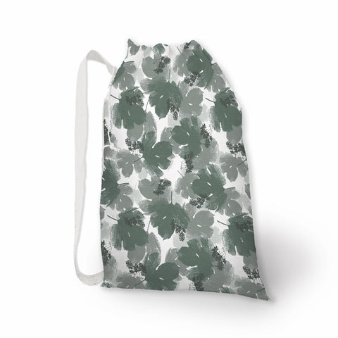 Beer Hops Leaves Print Laundry Bag - Metro Shower Curtains
