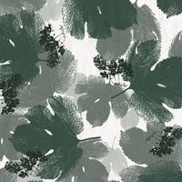 Hops leaves shower curtain fabric detail
