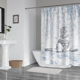 Grumpy Wet Cat Shower Curtain - Funny / Novelty