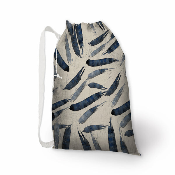 Indigo Brush Stroke Laundry Bag