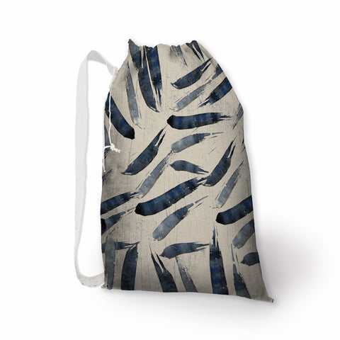 Indigo Brush Stroke Laundry Bag - Metro Shower Curtains