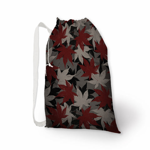 Japanese Maple Leaves Print Laundry Bag - Metro Shower Curtains