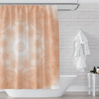 Orange peach mandala shower curtain