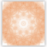 Peachy Orange Mandala Pattern Shower Curtain