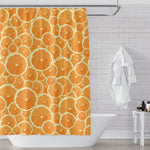 orange slices shower curtain