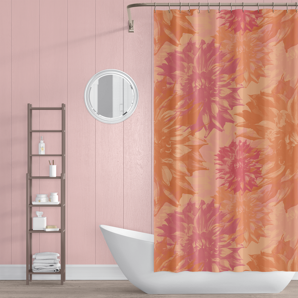 Peach and Pink Bathroom for Tween Decor Idea