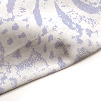Periwinkle and White Lace Mandala Shower Curtain