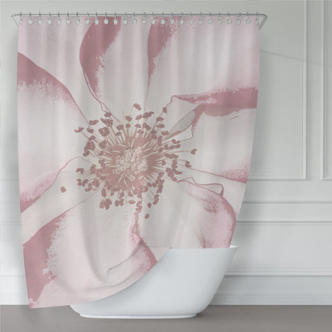 Giant Pink Antique Rose Art Print Shower Curtain - Metro Shower Curtains