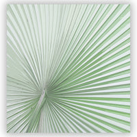 Light Green Palmetto / Large Scale Tropical Palm Leaf Shower Curtain for Modern Bath Decor