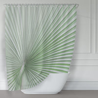 Green Saw Palmetto Large Format Art Shower Curtain