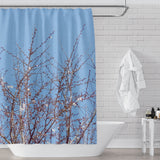 Spring Tree with Clear Blue Sky Shower Curtain