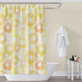 Yellow and White Lemon Shower Curtain