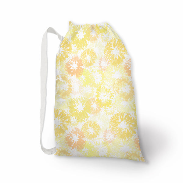 Lemons Oranges and Grapefruit Citrus Print Laundry Bag