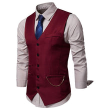 Load image into Gallery viewer, Fashion Men's Solid Color Suit Vest Waistcoat
