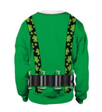 Load image into Gallery viewer, Saint Patrick's Day Strap Shamrocks Print Sweatshirt