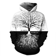 Load image into Gallery viewer, Tree Print  Long Sleeve Women's Pullover Hoodie