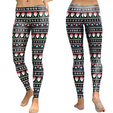 Load image into Gallery viewer, Santa Claus Print Slim Sexy Leggings Yoga Sport Pants