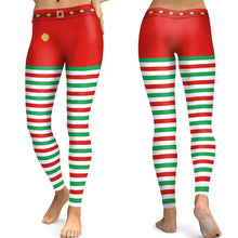 Load image into Gallery viewer, Christmas Print Slim Tights Leggings Yoga Pants