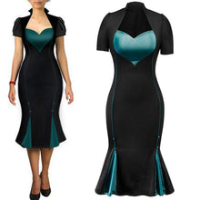 Load image into Gallery viewer, Women's 50s Vintage Pencil Dress Cap Sleeve Wiggle Dress