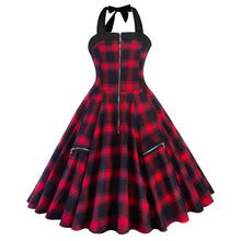 Load image into Gallery viewer, 1950s Vintage Rockabilly Plaid Print Audrey Dress Vintage Cocktail Dress