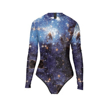 Load image into Gallery viewer, 3D Sexy Galaxy Printed Bodycon Stretch Women Bodysuit Long Sleeve Swimwear Bikini Surfing Suit Wetsuit