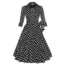 Load image into Gallery viewer, Women Vintage 1950s V-neck Retro Rockabilly Prom Dresses