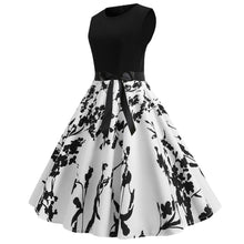 Load image into Gallery viewer, Thin 1950s Retro Vintage Cocktail Party Short Sleeve Print  Dress