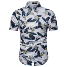 Load image into Gallery viewer, Men's Casual Beach Print Hawaiian Short Sleeve Shirt