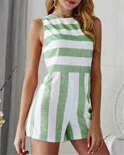 Load image into Gallery viewer, Casual Sexy Striped Romper