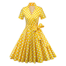 Load image into Gallery viewer, Women Vintage 1950s Retro Rockabilly Prom Dresses Cap-Sleeve