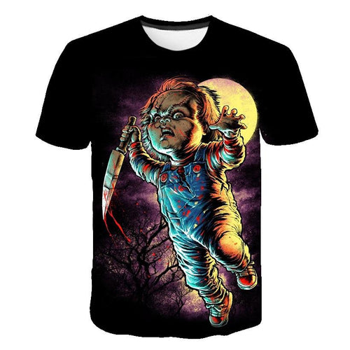 3D Child's Play Chucky Funny T-shirt Tee Tops