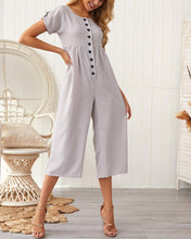 Load image into Gallery viewer, Casual Cotton Solid Color Jumpsuit