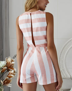 Casual Sexy Striped Romper