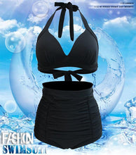 Load image into Gallery viewer, High Waist Bikini High Waist Strap Swimsuit Set