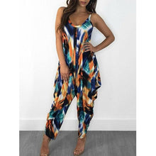 Load image into Gallery viewer, Printed Loose Sling Women's Jumpsuit