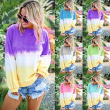 Load image into Gallery viewer, Rainbow Gradient Printed Long Sleeve Women's Sweatshirt