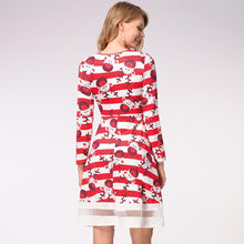 Load image into Gallery viewer, Funny Reindeer Print Long Sleeve Christmas Dress