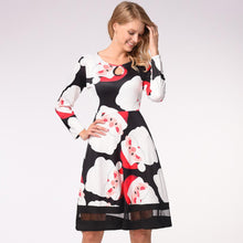 Load image into Gallery viewer, Snowman Print Long Sleeve Christmas Dress