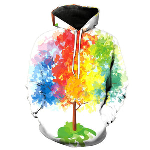 Digital Printed Pocket Hooded Cap Men's Hoodie