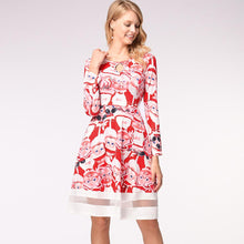 Load image into Gallery viewer, Christmas Cartoon Print Long Sleeve Dress