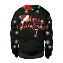Load image into Gallery viewer, Santa Claus  Print Ugly Christmas Long Sleeve Sweatshirt