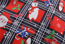 Load image into Gallery viewer, Christmas Snowman Print Short Sleeve Vintage Flare Dress