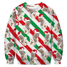 Load image into Gallery viewer, Xmas Print Ugly Christmas Sweater Long Sleeve Sweatshirt