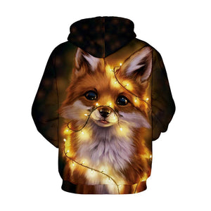 S-5XL Christmas Dog Print Unisex Long Sleeve Hoodie